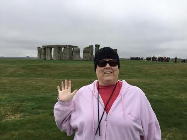 Hollie at Stonehenge