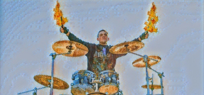 Trey drums on fire PRISMA