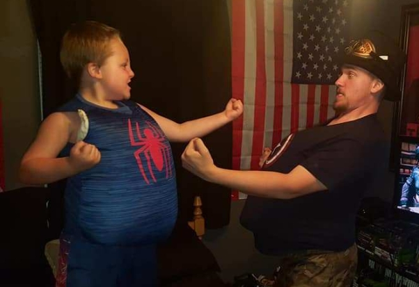 Trey and Joshy fat fighting