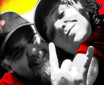 Trey and Me Red Pic for Poem Book Cover